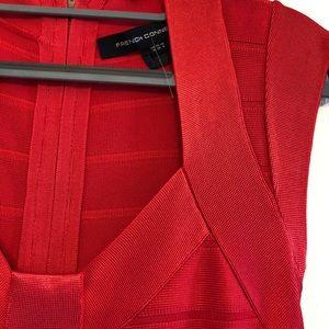 Red bondage dress
